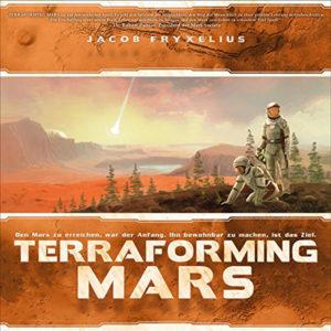 """Nominiert für das Spiel des Jahres 2017 in der Kategorie """"Kennerspiel des Jahres 2017"""": Terraforming Mars (Bildquelle: Schwerkraft Verlag)"""